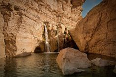 by Siuloon on Flickr.  Waterfall in Tamerza, the largest mountain oasis in Tunisia.