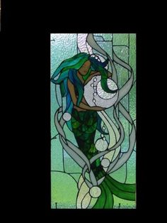 Mermaid Tiffany Style Stained Glass Window ...
