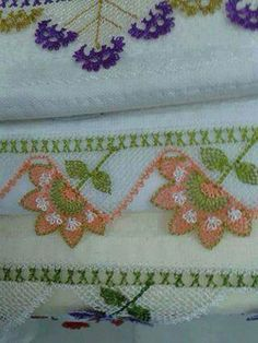 Havlu Embroidery, Flowers, Needlework, Needlepoint, Embroidery Stitches, Cut Work