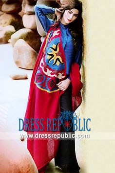Electric Blue Sularia, Product code: DR8836, by www.dressrepublic.com - Keywords: Casual Shalwar Kameez Shops in New York, New Jersey, Virginia, Florida, Texas, California