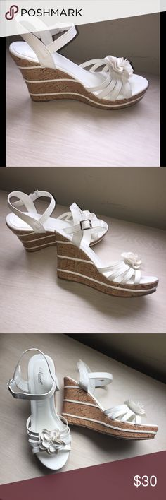 Wanted White Wedges Sz 9 Wanted White Wedges Sz 9 Wanted Shoes Wedges
