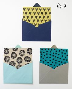 Cotton & Flax DIY envelope liners