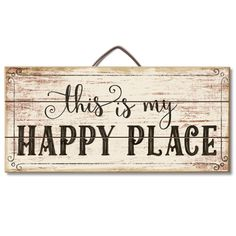 Pallets Wood This Is My Happy Place Wood Slatted Sign - Country Marketplace -