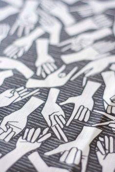 American Sign Language ASL Tea Towel  Linen / Cotton by auntjune, $18.00