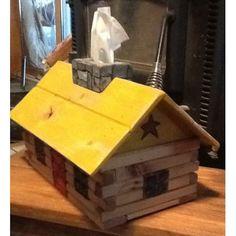 Home :: Décor :: Log Cabin Tissue Box by RockingHorse Past, $35 Cedar Deck, Kleenex Box, Wood Texture, Tissue Boxes, Family Room, Artisan, Cabin, Outdoor Decor, Larger