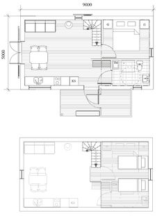 Fritidshuset Sikås 37, Arvesund Living — Svenska Ladhus Architecture, Floor Plans, Loft, Diagram, Living, Cabins, Home, Arquitetura, Lofts