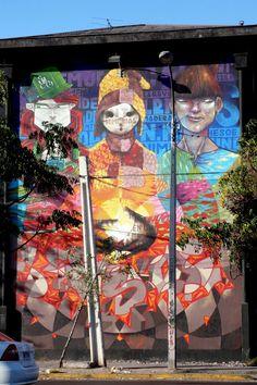 street art santiago de chile san miguel museo abierto arte callejero Art Installations, Installation Art, Graffiti, Amazing Street Art, Urban Art, Cool Artwork, Photo Art, 3d, Cool Stuff