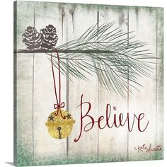 Found it at Wayfair - Christmas Art 'Bells'  by Katie Doucette Graphic Art on Wrapped Canvas