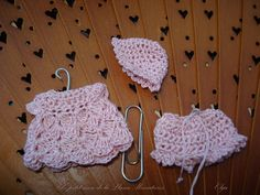 crochet set for baby pink. esc.  1.12 by Elpetitmondelalluna, €12.00