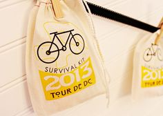 Bike Tour Favor Bags