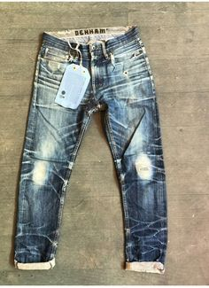 """""""Come & see this amazing VIRGIN natural worn DENHAM at the BERLIN store, getting ready for fashion week. Raw Denim, Denim Jeans Men, Jeans Pants, Blue Jeans, Denham Jeans, Mode Cool, Edwin Jeans, Denim Art, Japanese Denim"""