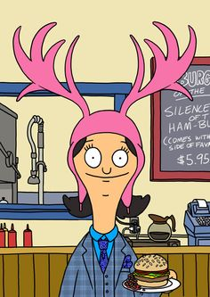 Bobs Burgers....Louise Belcher...voiced by Kristen Schaal...one of the biggest draws to the show.