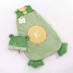 Frog snuggle sack. Great new baby gifts ideas. adorable