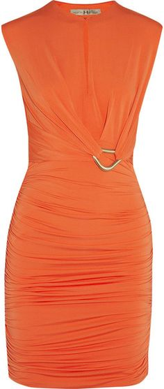 Halston Heritage Women Knee-Length Dress on YOOX. The best online selection of Knee-Length Dresses Halston Heritage. Pretty Dresses, Sexy Dresses, Beautiful Dresses, Short Dresses, Fashion Dresses, Orange Fashion, Love Fashion, Womens Fashion, Keyhole Dress