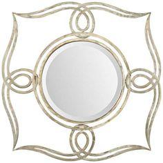 "Uttermost Helena 32"" Square Silver Mirror - #6C776 | LampsPlus.com"