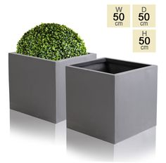 Made of a traditional yet modern combination of clay and fibre, this innovative fibrecotta cube in a tasteful dark grey colour will add class to wherever it is placed. Its material is more economical in comparison to stone, and extremely strong and durable too. The dark grey c