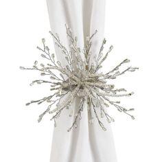 Z Gallerie - Seaburst Napkin Ring - Set of 4 - Silver curtain holder Beaded Napkin Rings, Silver Napkin Rings, Affordable Modern Furniture, Affordable Home Decor, Dining Room Inspiration, Wedding Inspiration, Design Inspiration, Stylish Home Decor, Home Decor Store