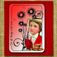 Wendylynn's Paper Whims: Lady in Red Card