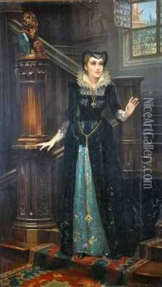 Mary Queen Of Scots Oil Painting, Gabriel Joseph Marie Augustin Ferrier Oil Paintings - NiceArtGallery.com