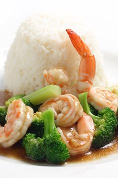 Stir-Fried Shrimp & Veggies in Garlic Sauce: quick #recipe ready in 22 minutes. #Chinese
