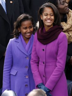 First Daughters Malia and Sasha Obama.