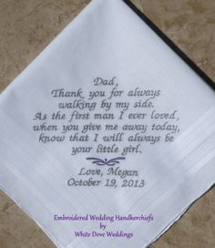 Father of the Bride Embroidered Wedding by WhiteDoveWeddings, $27.50