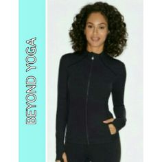 "★BEYOND YOGA  POWDER BLUE JACKET BEYOND YOGA POWDER BLUE ZIP UP JACKET Comfortable and Relaxing Fit w/ 2 Side Pockets 90% Supplex 10% Lycra Arm Length 20"" Pit to Pit 19"" Back Length 24"" Size Small BEYOND YOGA Jackets & Coats"