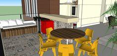 Primeira opção para varanda integrada a sala de estar, com ladrilho hidráulico e banco em madeira com futon!! Projeto @ahlaemcasa em parceria.