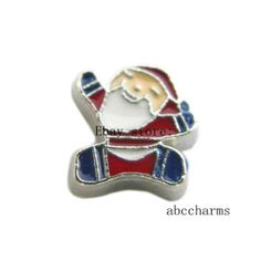 LOT 10pcs Santa Claus Floating charms For Glass living memory Locket FC1099
