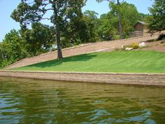 Seawall on the other side Retaining Walls, The Other Side, Fence, Golf Courses, Landscaping, Yard Landscaping, Landscape, Garden Design, Landscape Designs