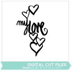Love Cut File by iHeartStudio by Two Peas @2peasinabucket