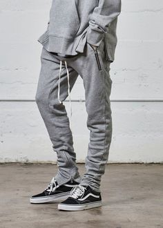 Fear Of God Yeezy Rick Owens French Terry Sweats drawstring zippered bottom pants -