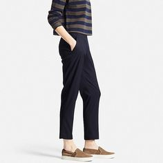 Women's Smart Style Ankle Pants, NAVY