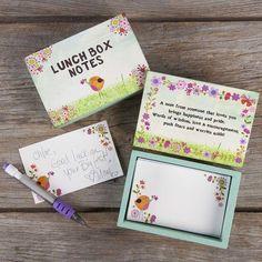 Natural Life Wood Notes Box - Lunch Box Notes