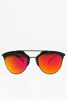 2128833195a7 Skylar Reflective Sunglasses - Black Orange