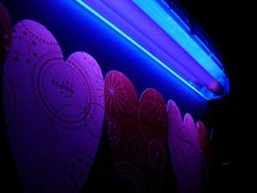 Glow-in-the-dark party ideas. I had no idea highlighters and tide detergent glow under a blacklight!