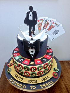 Casino Royale James Bond Cake
