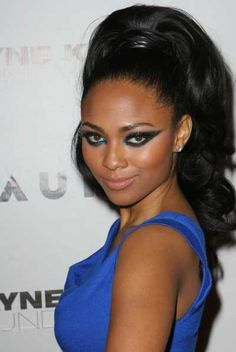 Gorgeous High Ponytail Hairstyles for Black Women Black Prom Hairstyles, High Ponytail Hairstyles, New Natural Hairstyles, Long Face Hairstyles, Ponytail Styles, Wedding Hairstyles For Long Hair, Curly Hair Styles, Natural Hair Styles, Stylish Hairstyles