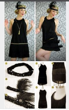 Adorable flapper costume