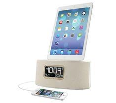 iHome iDL46 Dual Charging Alarm Clock Radio