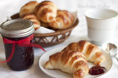 Julia Child's Croissants with Quick Blackberry Jam, and My First Grandbaby