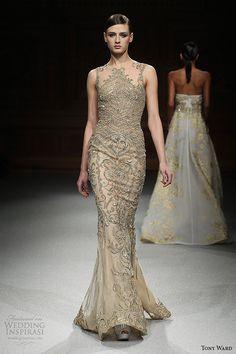 tony ward couture spring summer 2015 runway sleeveless filigree embroidery mermaid ivory dress