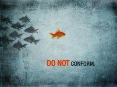 Fear conformity.