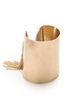 Adia Kibur Fringe Cuff, $36; shopbop.com #bracelets #budget