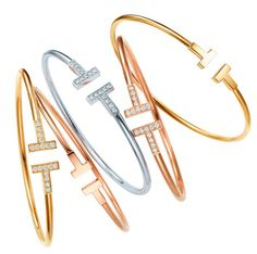 Tiffany and Co. T collection rings and bracelets