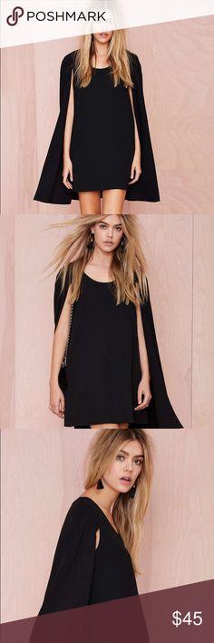 ‼️MAJOR SALE‼️✨BNWT✨NASTY GAL Black Cape Dress❤️ Nasty Gal little black cape dress, the perfect little party dress! Nasty Gal Dresses