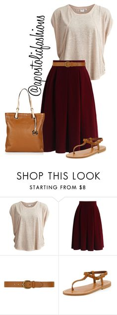 """Apostolic Fashions #1372"" by apostolicfashions on Polyvore featuring Object Collectors Item, Chicwish, Dorothy Perkins, K. Jacques and MICHAEL Michael Kors"
