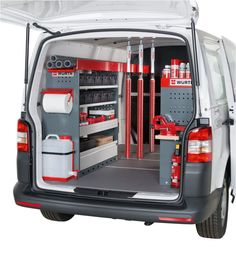 Würth Hellas SA: Οι ειδικοί στην τεχνική συναρμολόγηση - ORSYmobil: Εξοπλισμοί οχημάτων για επαγγελματίες Van Storage, Truck Storage, Tool Storage, Car Wash Equipment, Van Organization, Van Shelving, Mobile Coffee Shop, Car Wash Business, Van Racking