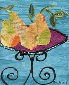 Cezanne like fruit collage