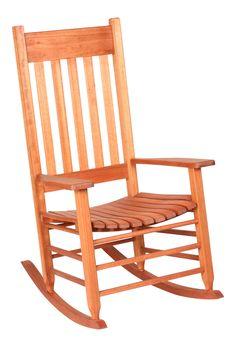 ... Rocking Chair, Wide Arm Rest Wood Rocker Seat  Wooden Rocking Chairs